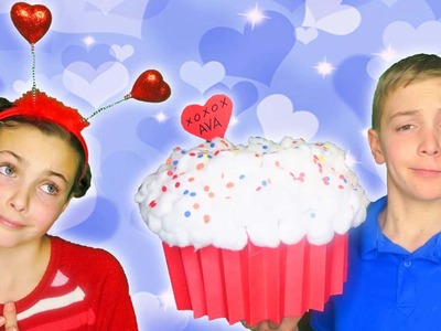 ❤️ How To Make Quick Easy GIANT Cupcake Valentines Box Easy Kids Crafts With Guide Princess Ava