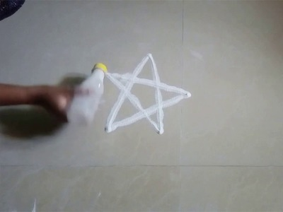 How to make Rangoli pen with waste Bottle