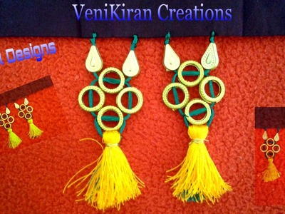 How to Make Saree Tassel.Kuchu design with Beads at Home - Design 14::Tutorial