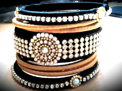 How to make silk thread bangles at home.with old bangles