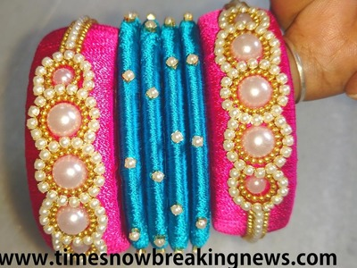 How to make silk thread bangles at home,indian silk thread bangles,bridal silk thread bangles making