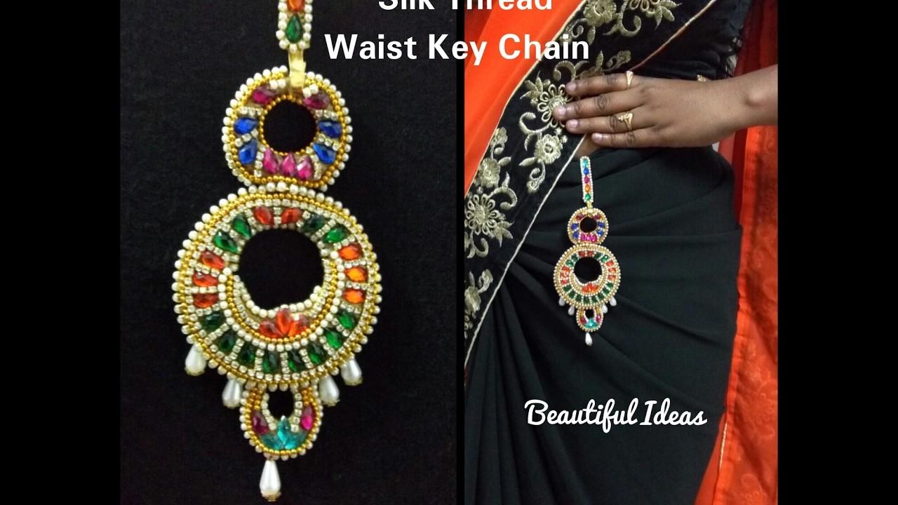 How to Make Silk Thread Waist Key Chain. Bridal Waist Key Chain at Home.