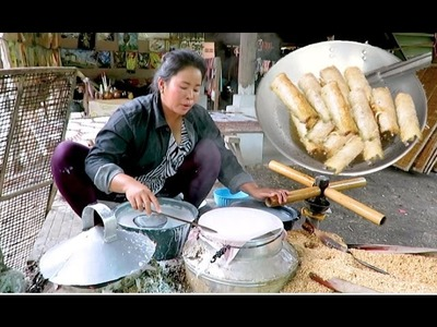 How to Make Spring Roll - Spring Roll Wrappers - Battambang Province