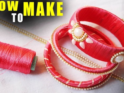 How to make thread bangles at home zig zag party wear bangles step by step latest tutorial