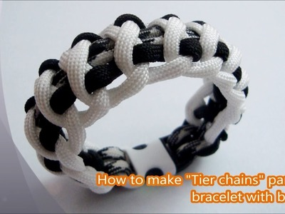 """How to make """"Tire Chains"""" paracord bracelet with buckles"""
