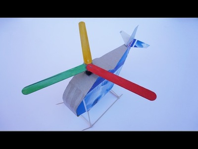 How To Make Toy Helicopter Paper And DC Motor DIY At Home
