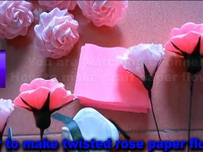 How to make twisted rose paper flower