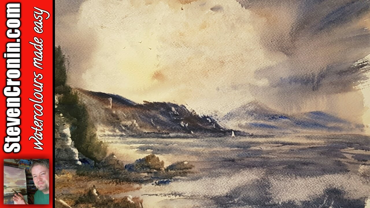 How to paint a simple coastal scene in watercolour