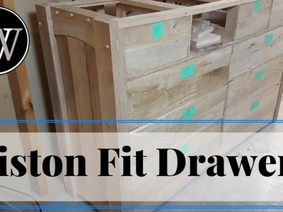 How to Piston Fit Drawer Panels A Hand Tool Woodworking project