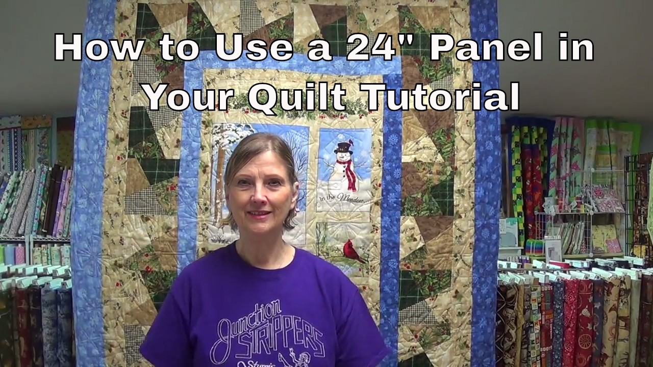 """How To Use a 24"""" Panel in Your Quilt"""