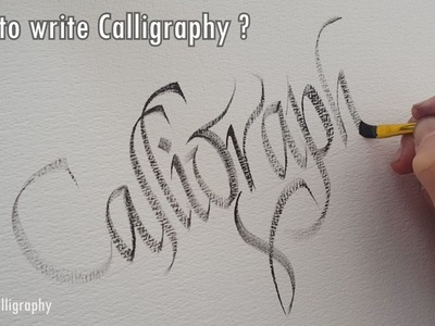 How to write calligraphy with a flat brush ?