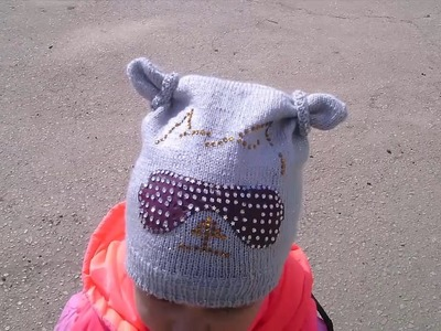 Knitting  Lesson № 73 Baby beanie for girls with beads