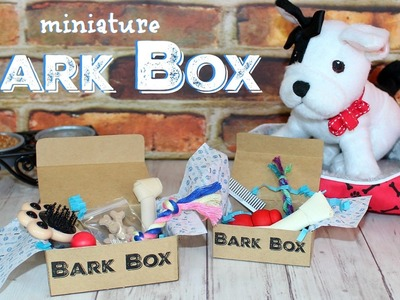 Miniature BarkBox DIY | How to make American Girl Doll BarkBox for your Toy Doll Pets