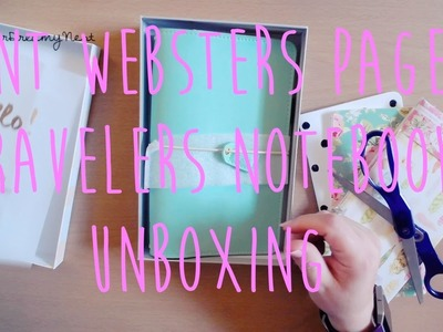 Mint Websters Pages Travelers Notebook | How to Set up Notebooks in Travelers Notebook