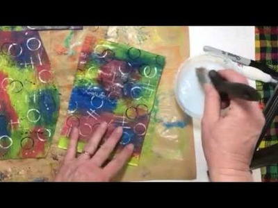 Painty Papers for flowers and DIY plastic tissue paper :) Supplement video 5 :)
