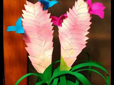 Paper flowers Tillandsia Cyanea (flower # 107)