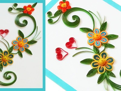 ✴paper quilling greeting cards for beginners ✴