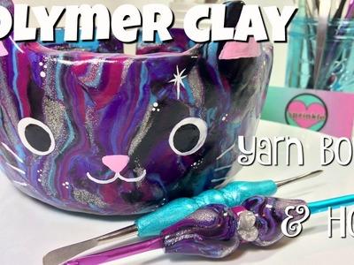 Polymer Clay Yarn Bowl and Ergonimic Crochet Hook