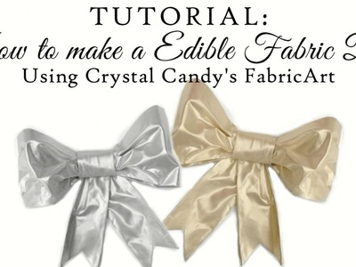 Revolutionary Edible FabricArt: Tutorial on how to make bows, ruffles and frills with EASE!