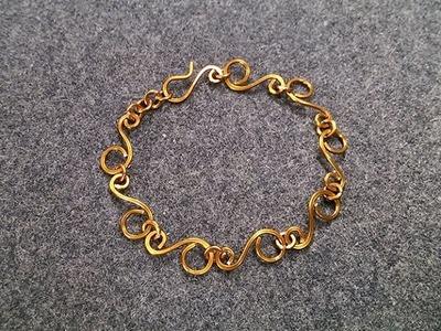 S-shaped bracelet - How to make wire jewelery 198