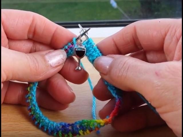 "Sock knitting tutorial on 9"" circular needles - Cast on - Part 1"