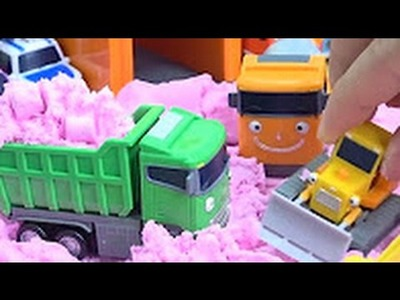 Tayo the Little Bus in Color Sand & Tools toy. How to Make Sand Learn Colors