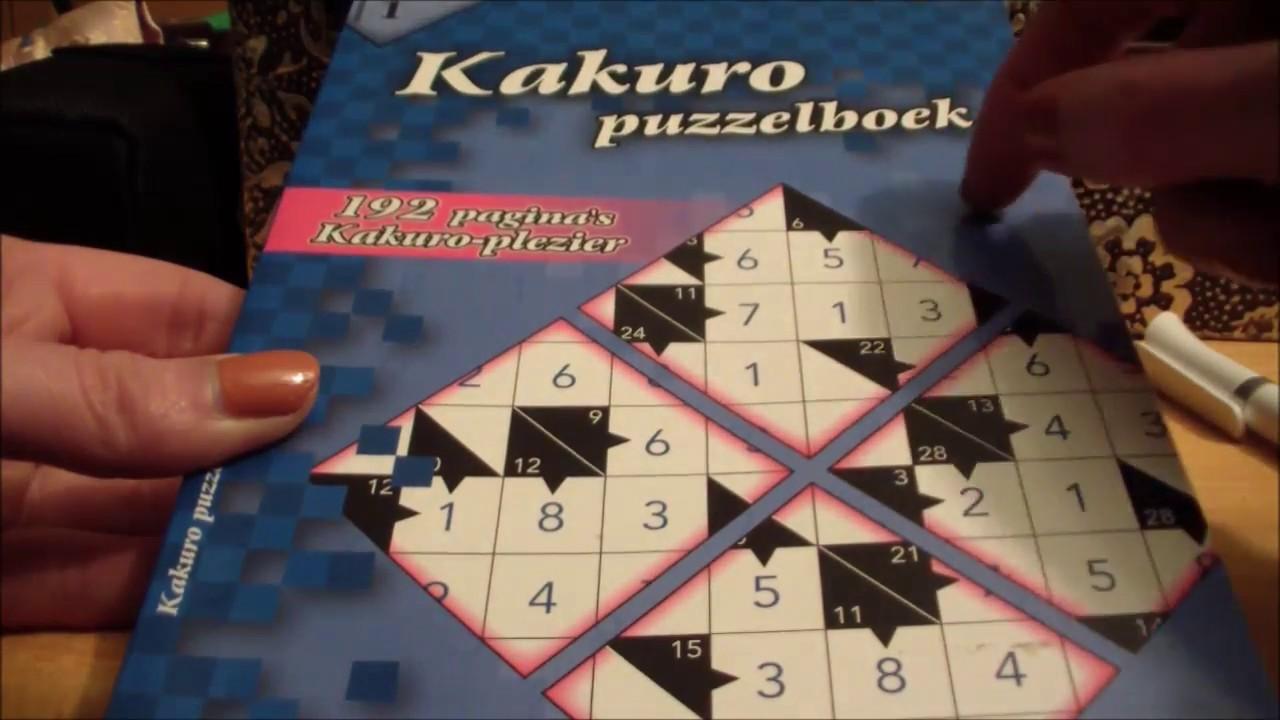 Teaching you how to do Kakuro puzzles - ASMR Soft Spoken
