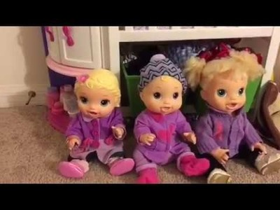 The baby alives make valentines! ❤️.  How to make valentines gifts.