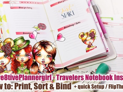 Travelers Notebook Inserts: How to print, sort & bind + Setup of my Colorcrush Travelers Notebook