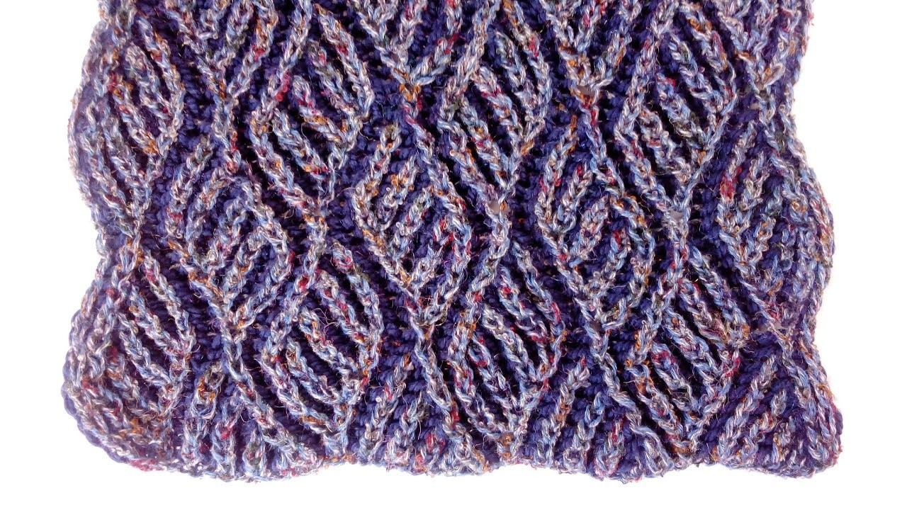 Knitting With Two Colors Patterns : Two color brioche scarf knitting pattern free chart my
