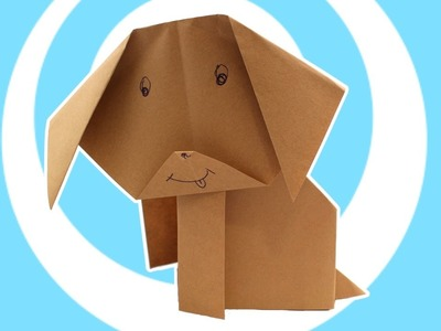 Very Easy Paper Origami Dog (Kids instructions)