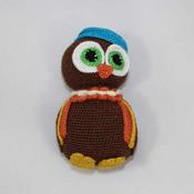 Wise Owl Crochet Amigurumi PDF Pattern