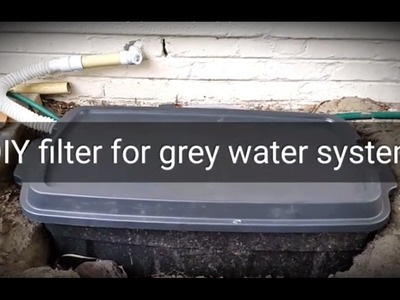 2. How to make a DIY filter for a home grey water recycling system