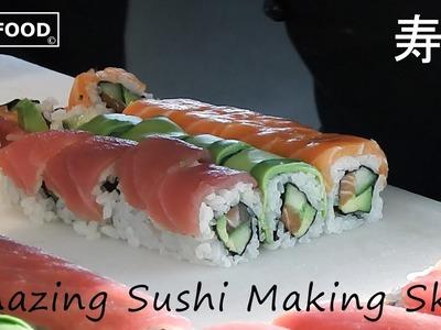 Amazing Sushi Making Skills-How To Make Sushi?