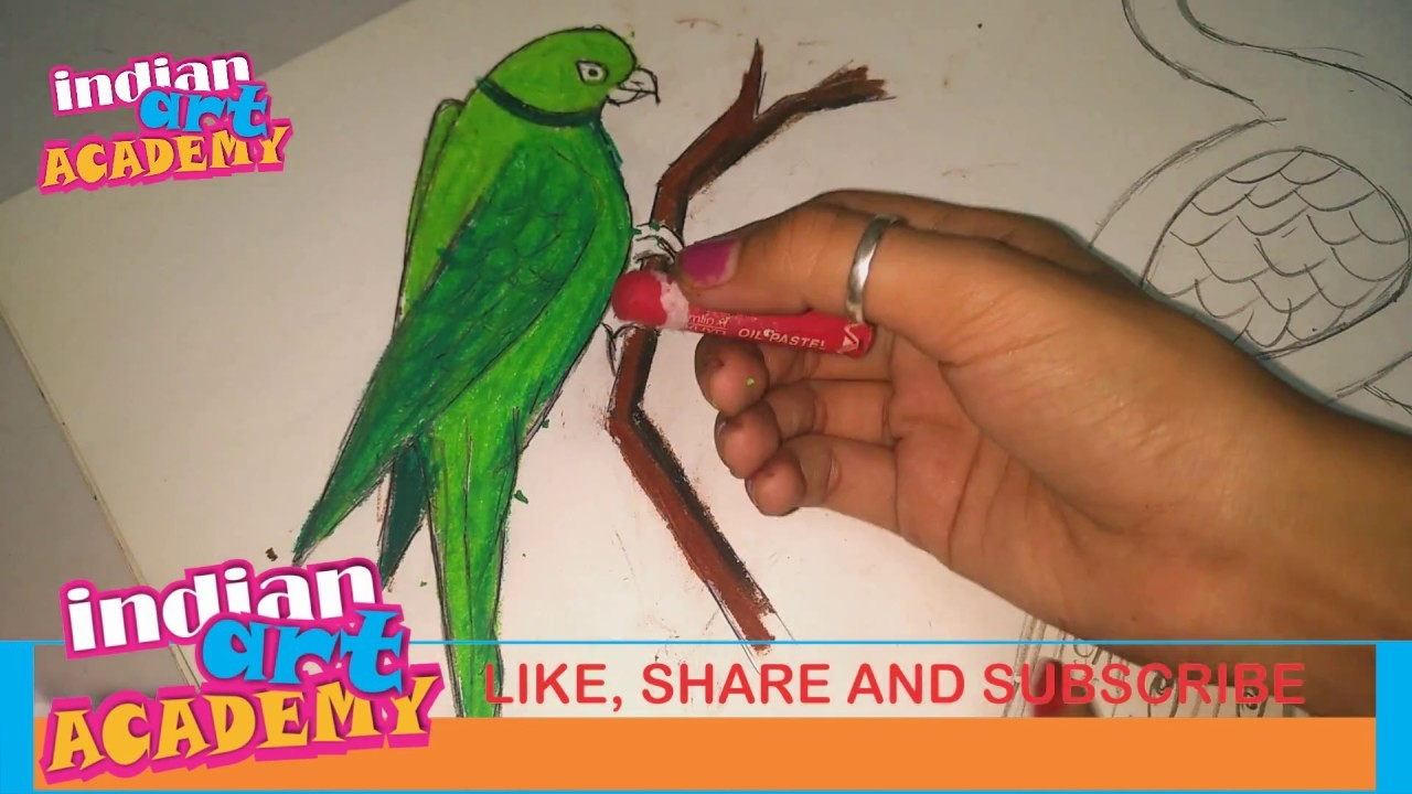 BIRDS PAINTING : how to paint a parrot help with watercolor