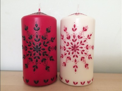 Christmas candles decorating Make Your Own