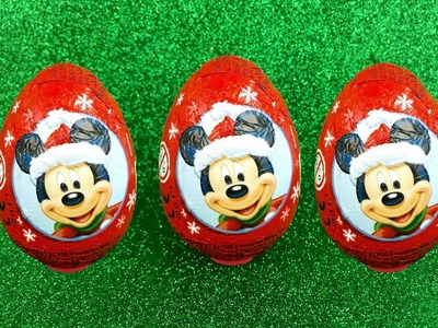 Christmas Kinder Surprise Eggs! Awesome Disney Toys Inside! Yummy Chocolate Surprise Eggs!