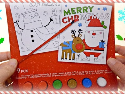 Colorful Painting for Children Merry Christmas Colors