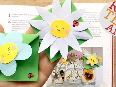 Cute & Easy Flower Bookmark Designs - Kawaii Flowers DIY - Paper Crafts
