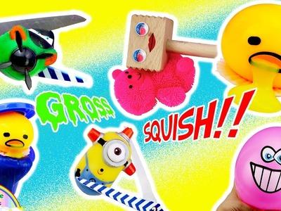 Diy Pill Squishy : Minion, Elephant Minion?. Perler Beads, Cutting Open SQUISHIES Homemade DIY Squishy TOYS Gudetama