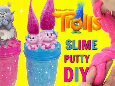 D.I.Y. DREAMWORKS TROLLS MOVIE Baby Poppy Branch Bridget,  Do It Yourself Glue SLIME RECIPE Putty