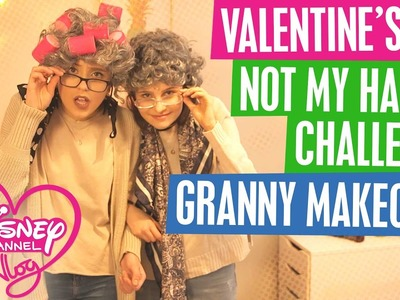 DISNEY CHANNEL VLOG | VALENTINE'S DIY | NOT MY HANDS CHALLENGE | GRANNY MAKE OVER