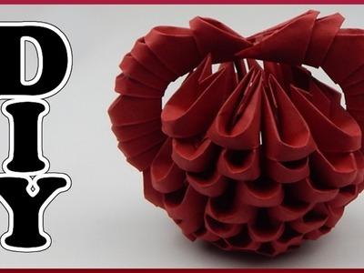 DIY 3D Origami | Valentinstag | Herz aus Papier falten | Valentines day heart | Less than 100 pieces
