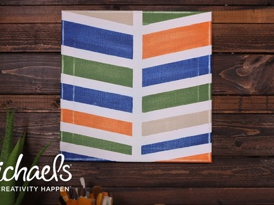 DIY Chevron Painted Canvas | Michaels