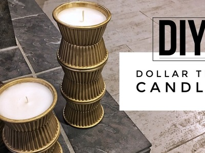 DIY | Dollar Tree Candles +  TOOARTS Giveaway (Closed)