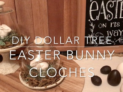 DIY DOLLAR TREE EASTER BUNNY CLOCHES-How To