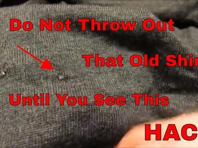 DIY - Easy Repair of a Hole in a Shirt