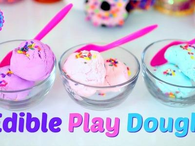 DIY EDIBLE PLAY DOUGH! 2 INGREDIENT PLAY DOH!