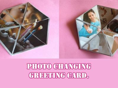 DIY Gifts| Photo changing card| Hexaflexagon card tutorial.