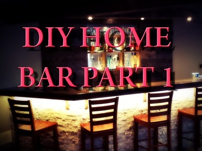 DIY Home Bar - Part 1 - Planning and Framing